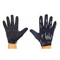 Мотоперчатки текстильные с закрытыми пальцами FOX (р-р M-XL) PM-26