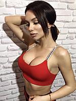 Женский спортивный топик с пуш ап