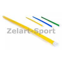 Палка гимнастическая тренировочная (штанга) пластик UR 1,0м (длина-1м, d-3,5см) IF-27