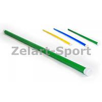 Палка гимнастическая тренировочная (штанга) пластик UR 1,1м (длина-1,1м, d-3,5см) IF-28