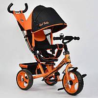 Велосипед 3-х колёс. 5700 - 4780 Best Trike (1) ОРАНЖЕВЫЙ, ПОВОРОТНОЕ СИДЕНЬЕ, КОЛЕСА EVA (ПЕНА) переднее колесо d=28см. задние d=24см