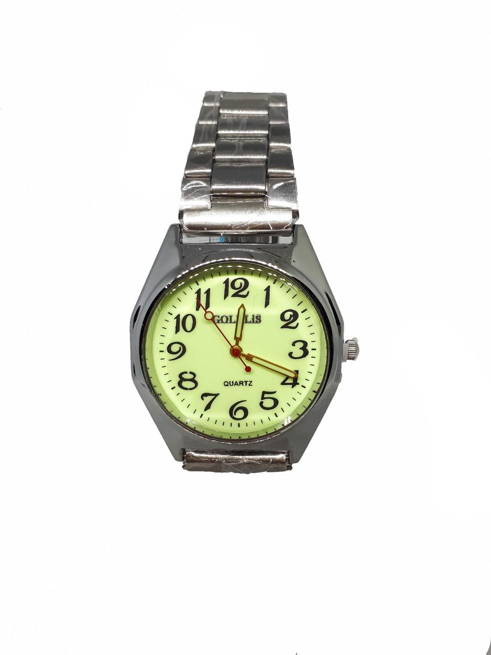 Часы кварцевые мужские на браслете Goldlis