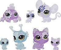 Littlest Pet Shop 7 Цветочных Петов вечеринка гортензий E5149 Petal Party Hydrangea Collection Figure 7-Pack