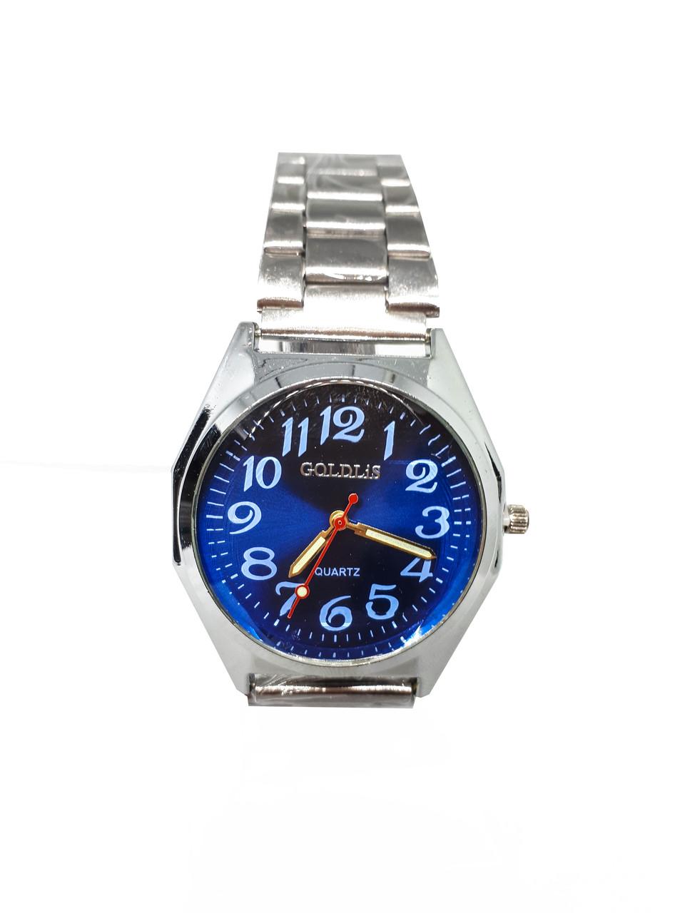 Часы кварцевые мужские на браслете Goldlis Синий