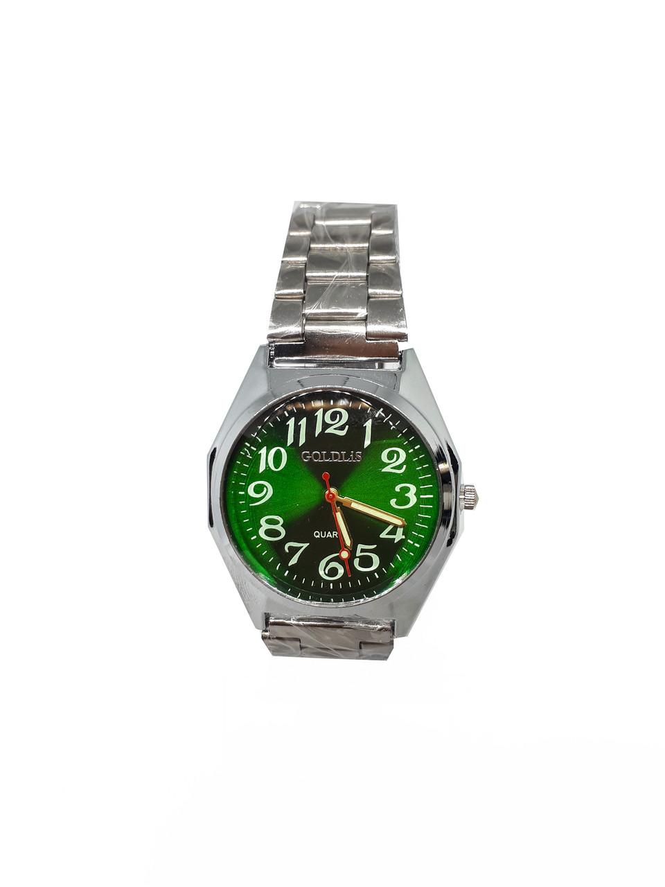 Часы кварцевые мужские на браслете Goldlis Зеленый