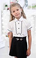 Блузка школьна с рельефным декором 5010к, фото 1