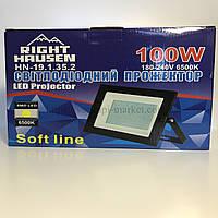 Прожектор RIGHT HAUSEN SOFT LED 100W 6500K IP65 чорний HN-191352