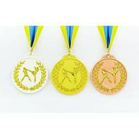 Медаль спортивная с лентой двухцветная Единоборства