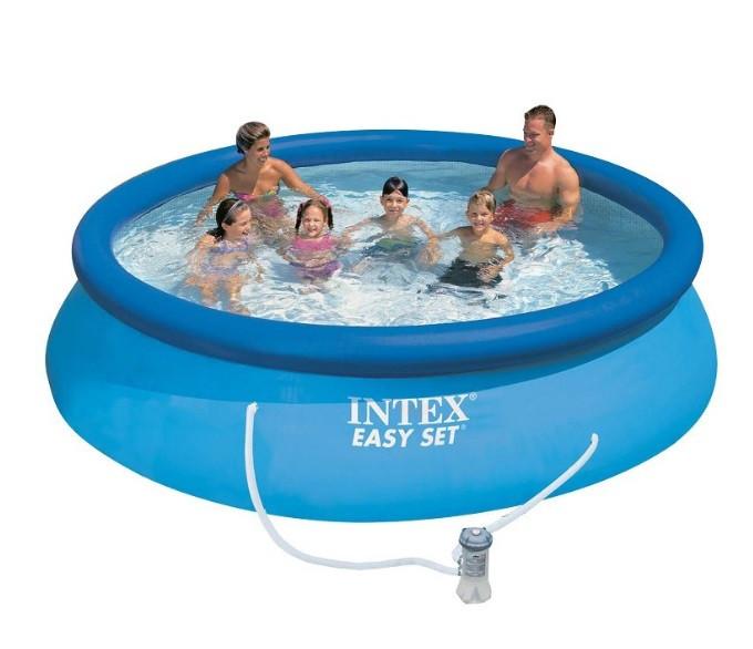 Надувной бассейн Intex 28132 с фильтр-насосом (366х76 см)