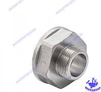 Переходник (лейка) латунный никелированный 1х1 1/2 наружная внутренняя KOER