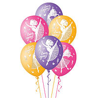 Гелиевый шар с рисунком балерины. Надпись С Днем рождения, фото 1