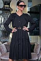 Красивое черное платье  SV 3406, фото 1