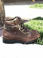 Мужские демисезонные ботинки из натуральной кожи люкс класса unionbay