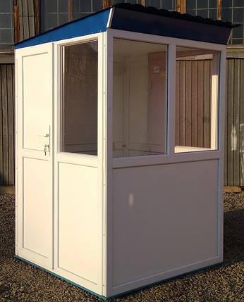 Пост охраны 150х150 утепленный, модульная кабина уличная будка, блок, фото 2