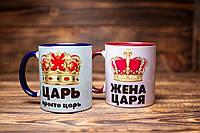 "Чашк ""Царь, просто царь и Жена царя"". Парные чашки."