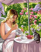 Картина по номерам Чаепитие с питомцем, 40x50 см., Brushme