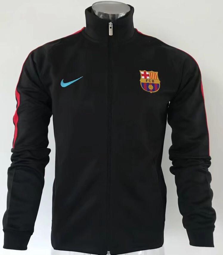 Футбольная олимпийка ФК Барселона черная