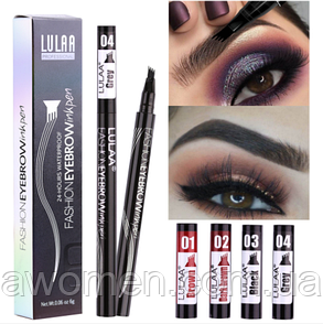 Маркер для брів Lulaa Fashion EyeBrowink pen 1 ml № 3 (Black)