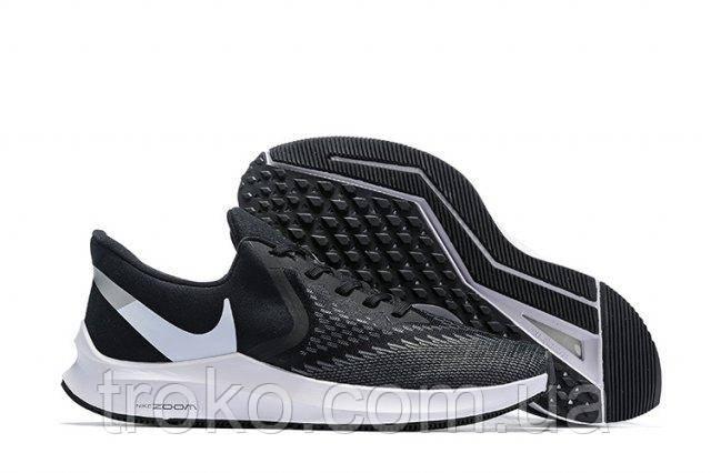 d58ea22e Мужские кроссовки Nike Air Zoom Winflo 6 Black/White (Реплика ...
