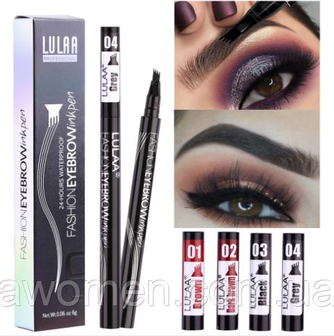 Маркер для бровей Lulaa Fashion EyeBrowink pen 1 ml № 4 (Grey)