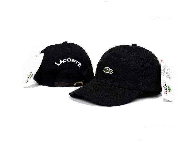 Бейсболка кепка Лакосте мужская/женская черная (реплика) Сap Lacoste Black