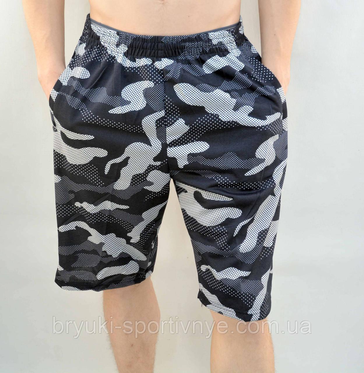 Шорты мужские камуфляжные в хороших размерах и молниями на карманах - трикотаж Бриджи камуфляж XL - 5XL