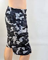 Шорты мужские камуфляжные в хороших размерах и молниями на карманах - трикотаж Бриджи камуфляж XL - 5XL, фото 3