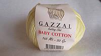 Пряжа Gazzal Baby Cotton, цвет - лимонный