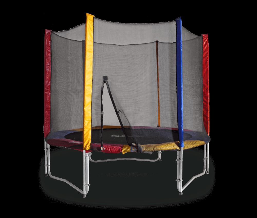 Батут Kididgo механический с защитной сеткой 244 см