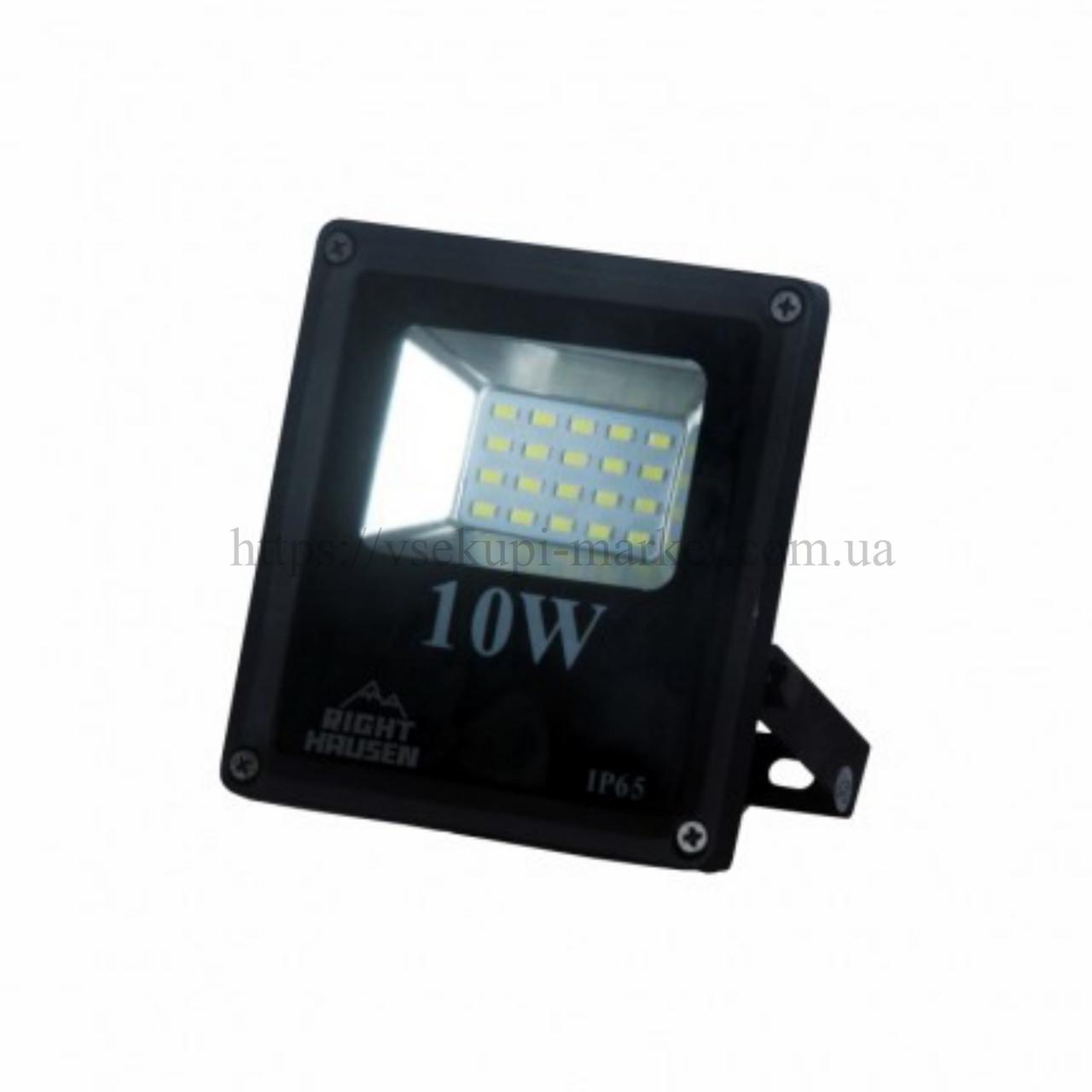 Прожектор RIGHT HAUSEN STANDARD LED 10W 6500K IP65 черный HN-191212N