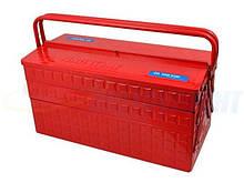 Переносний Ящик для інструменту металевий червоний 470x220x260mm KING TONY
