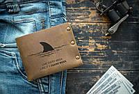 Мужской кожаный кошелек ТатуНаКоже, каждый день как последний, фото 1