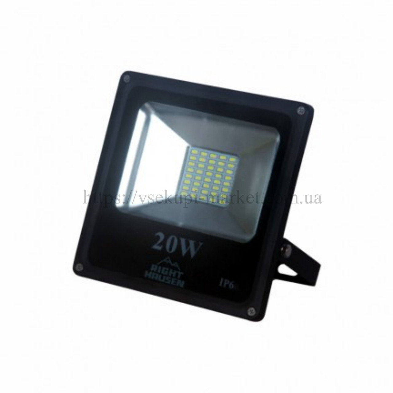 Прожектор RIGHT HAUSEN STANDARD LED 20W 6500K IP65 черный HN-191222N
