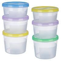 Набор контейнеров пластиковых для пищевых продуктов 3шт/наб 500мл/700мл/1,1л PT-83139 (12шт)