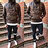 Мужская демисезонная куртка анорак с капюшоном коричневая