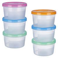 Набор контейнеров пластиковых для пищевых продуктов 3шт/наб 700мл PT-83115