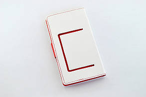 "Чехол-книжка 4you Fancy 4""-4,4"" white/red универсальная ТОП Продаж!, фото 2"