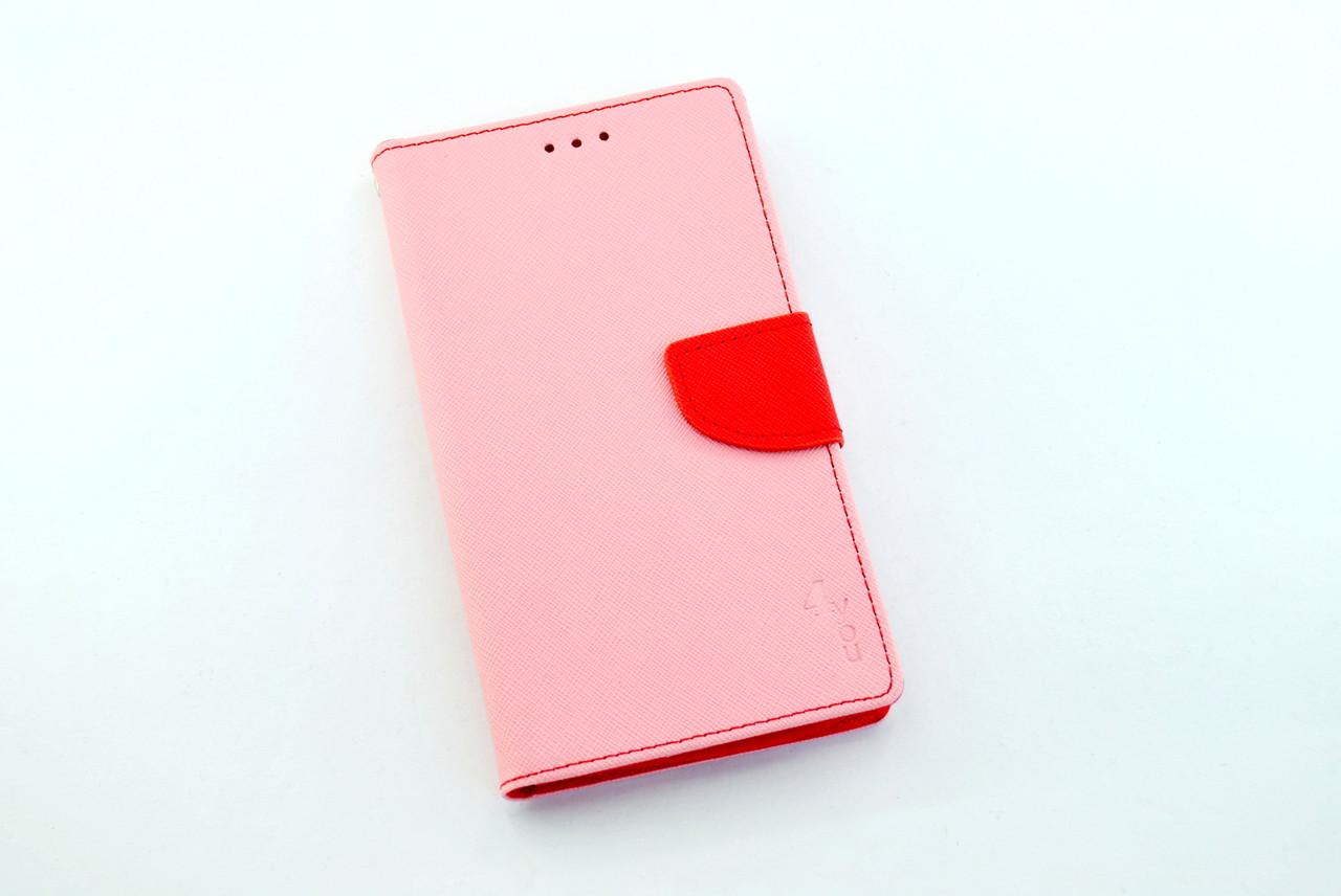 """Чехол-книжка 4you Fancy 4""""-4,4"""" pink/crimson универсальная"""
