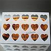 Гибкий Трафарет для шоколадного декора  Сердечки