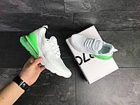 Демисезонные кроссовки мужские Nike 7808 белые с зеленым, фото 1
