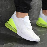Демисезонные кроссовки мужские Nike 7807 белые с желтым, фото 1