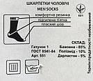 Чоловічі шкарпетки в сітку стрейч тм Еко, фото 2