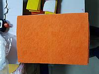 Губка 160 х 230 мм для легкой шлифовки и очистки поверхностей, слабоабразивный нетканный материал, оранжевый