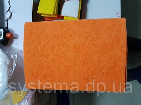 Лист скотчбрайт 160х230 мм для легкой шлифовки и очистки поверхностей, нетканный материал, оранжевый, фото 2