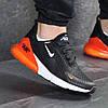 Демисезонные кроссовки мужские Nike 7804 черные с оранжевым