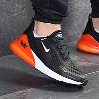 Демисезонные кроссовки мужские Nike 7804 черные с оранжевым, фото 1