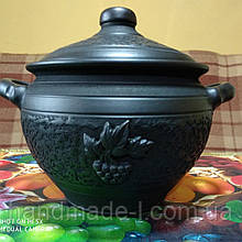 Баняк - каструля керамічна 4.5 - 5л для запікання в духовках ручної роботи