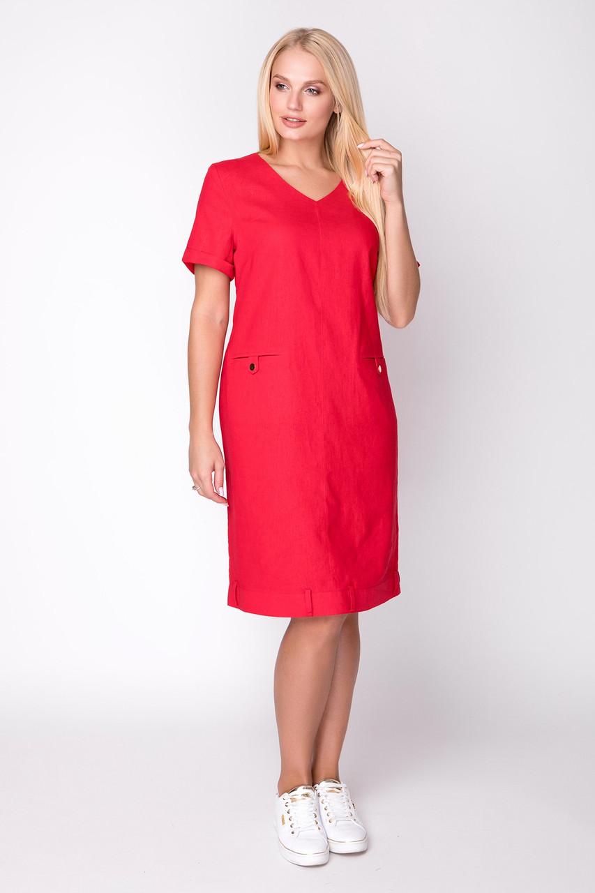 Летнее льняное платье 50 по 56 размер
