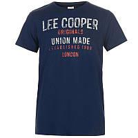 Мужская синяя футболка lee cooper