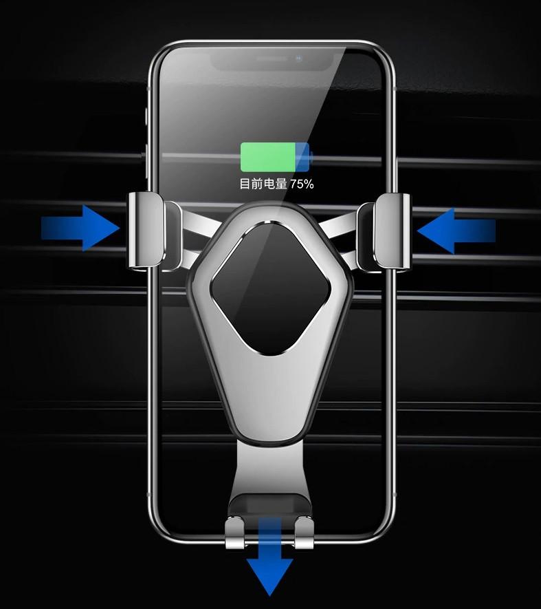 Автомобильный держатель смартфона Cafele Gravity Car Phone Holder Black (SB7-15-04)